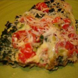 Baked Eggs & Kale Parmesan (Frittata) recipe