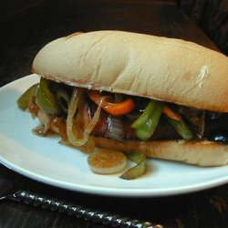 Sausage Sandwiches With Peppers, Onion and Olives recipe