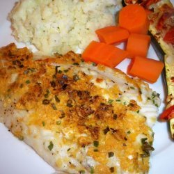 Baked Fish With Sour Cream Topping recipe