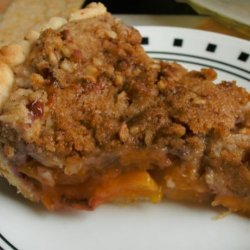 Peach Pie With Almond-Pecan Streusel recipe