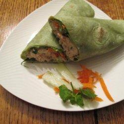 Thai Peanut Chicken Salad Wraps recipe