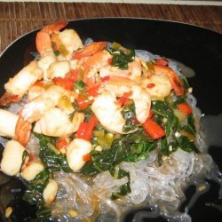 Spicy Shrimp and Scallops With Cellophane Noodles recipe