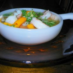 Shrimp in a Spicy Ginger-Cilantro Broth - Clean Eating recipe