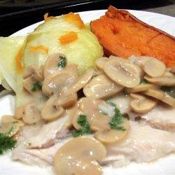 Diabetic, Low-fat Fish Steaks with Mushroom Sauce recipe