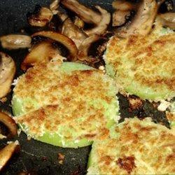 Panko Fried Green Tomatoes and Mushrooms recipe