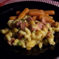 Ham and Peas Mac and Cheese recipe