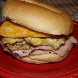 Awesome Breakfast Bagel Sandwich recipe