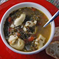 Sausage and Spinach Tortellini Soup recipe