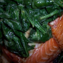 Salmon With Spinach and Mustard recipe