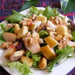 Mixed Greens With Caramelized Pears and Walnuts recipe