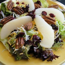 Mixed Greens and Pear Salad recipe