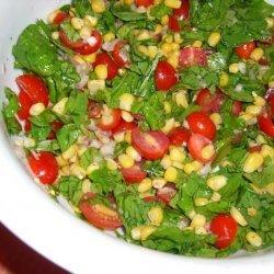 Arugula, Fresh Corn and Tomato Salad recipe
