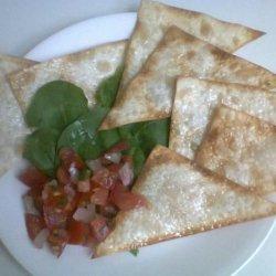 Low-Fat (Wonton Egg Roll Gyoza) Chips With Salsa recipe
