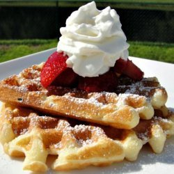 Breakfast on the Deck Sour Cream Waffles recipe