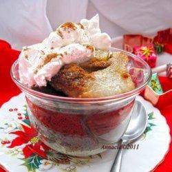 Pear Gingerbread Pudding. recipe