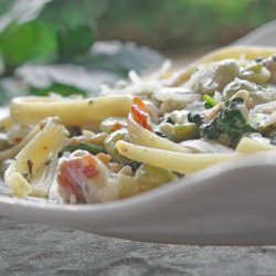 Pasta With Lima Beans and Swiss Chard recipe