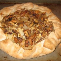 Rustic Mixed Mushroom and Blue Cheese Galette recipe