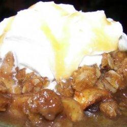 Caramel Apple and Pear Crisp recipe