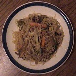 Korean Beef & Vegetables with Noodles - Chap Jae recipe