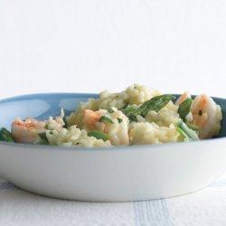 Lemony Risotto With Asparagus and Shrimp recipe