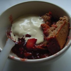 Cranberry Apricot Pear Cobbler recipe