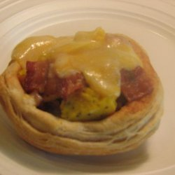 Bacon, Egg and Cheese Biscuit Bowls recipe