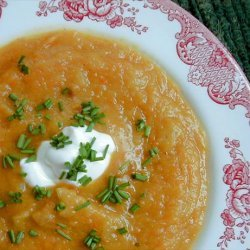 Baked Winter Squash Soup recipe