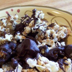 Chocolate Covered Popcorn (Boy Scouts Copycat) Caramel Corn recipe