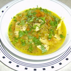 Chicken Mulligatawny Soup from  the Frugal Gourmet  recipe