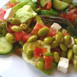 Mediterranean Salad With Edamame recipe