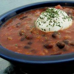 Spicy Lamb and Black Bean Chili recipe