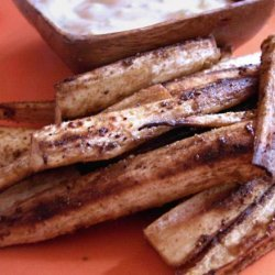 Parsnip Pencil Fries With Spicy Curry Dipping Sauce recipe