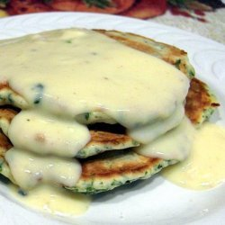 Spinach Cakes With Gouda Cheese Sauce recipe