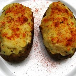 Twice-Baked Potatoes With Blue Cheese and Rosemary recipe