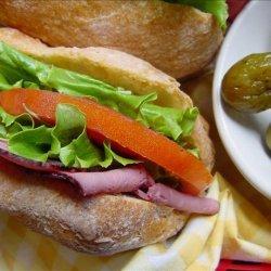 Roast Beef Sandwiches With Horseradish Mayonnaise recipe