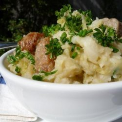 Main Dish Colcannon (Cabbage, Potatoes and Sausages) recipe