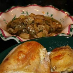 Roast Chicken Breasts With Herbed Cheese recipe