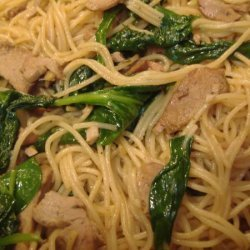 Sesame Noodles With Roast Pork recipe