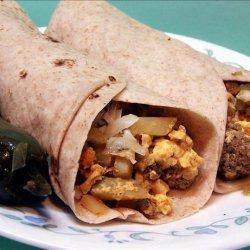 Chorizo and Egg Breakfast Burritos recipe