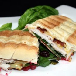 Turkey Panini With Candied Bacon recipe