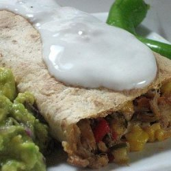 Oven Baked Chicken & Veg Chimichangas recipe