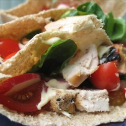 Grilled Lemon Chicken Wrap With Chilli Mayonnaise recipe
