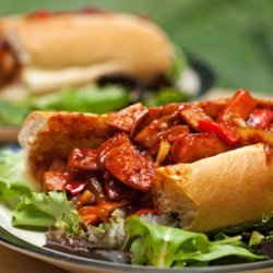 Neely's Smoked Sausage and Pepper Sandwiches recipe