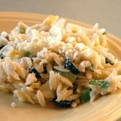 Orzo Salad With Corn and Cucumber-Feta Dressing recipe