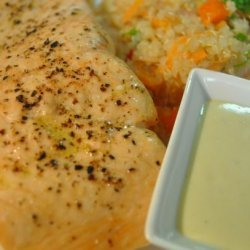 Salmon Steaks With Wasabi Mayonnaise recipe