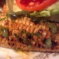 Grilled Corn on the Cob With Roasted Jalapeno Butter recipe