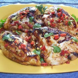 Pan-Roasted Chicken With Spiced Honey recipe