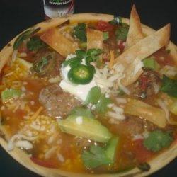 Mexican Tortilla Meatball Soup recipe