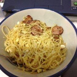 Pasta with Garlic and Eggs recipe