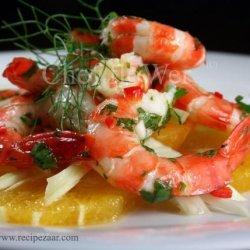 Fennel and Orange Salad Topped With Prawns / Shrimp recipe